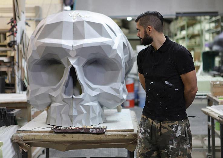 Skull Armchair by Okuda