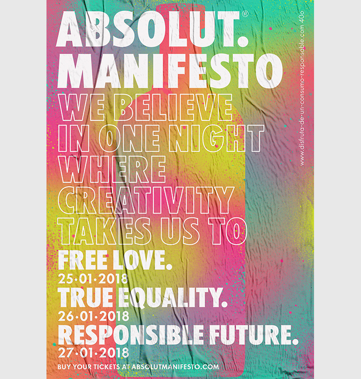 El Artista MOU en Fiesta Absolut Manifesto