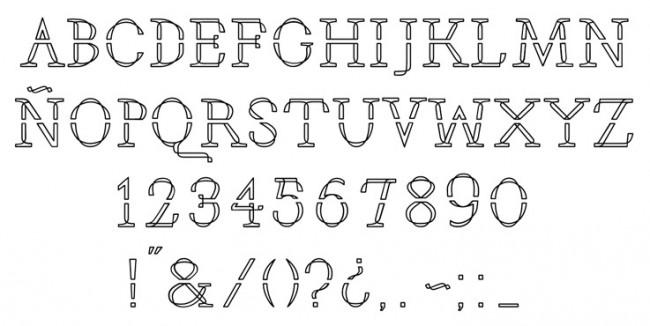 Tipografía Alfeñique