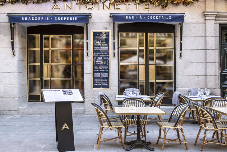 brunch madrid Antoinette: Fachada del local