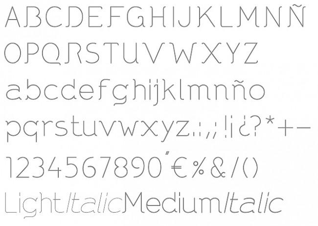 Tipografía DNNR