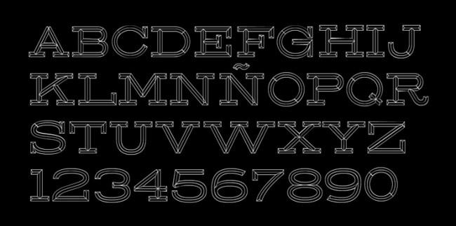 Tipografía East Rock