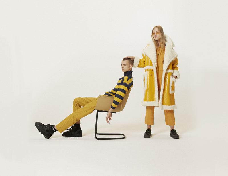 Editorial moda neo2 Antartica chico y chica de amarillo