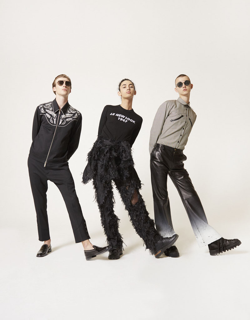 Editorial moda neo2 Antartica foto de grupo con ropa negra y gris