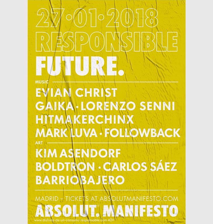 Música del Futuro en Absolut Manifesto con Post Club