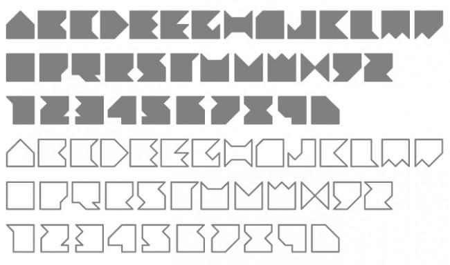 Tipografía Geometra