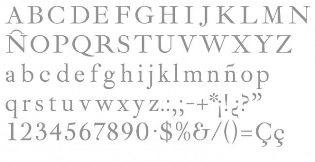 Tipografía Ibarra Real