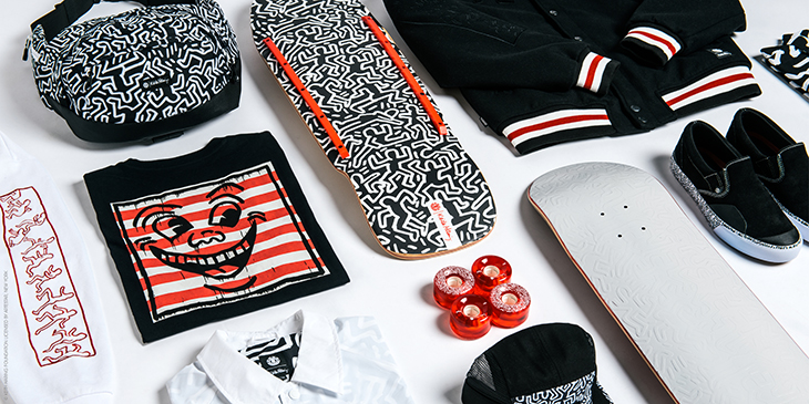 Element Keith Haring, Skateboards y Street Art