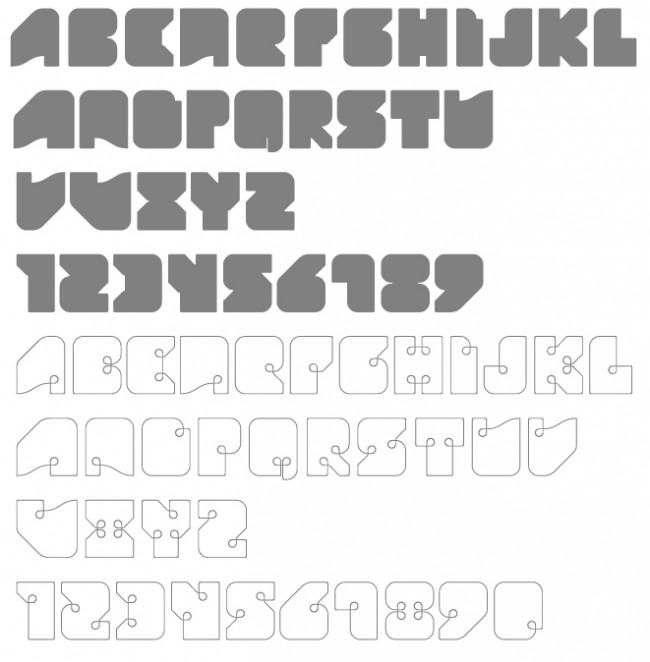 Tipografía Liquid Lines