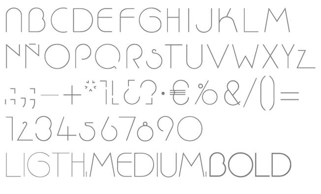 Tipografía Nico