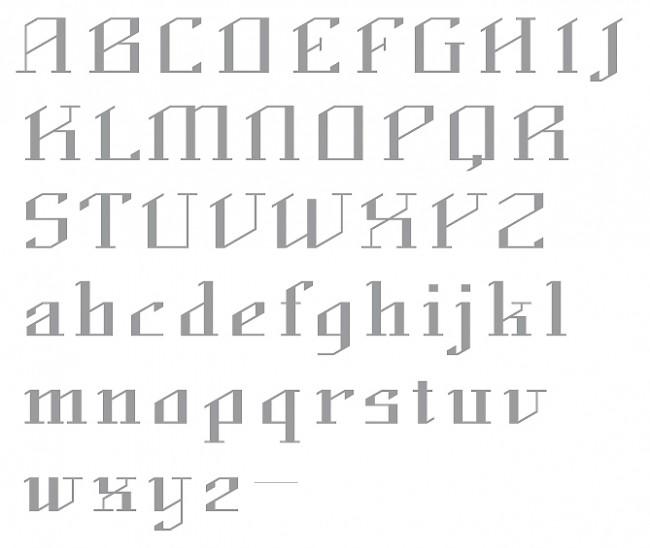 Tipografía Rohbau