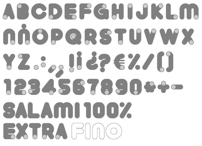 Tipografía Salami