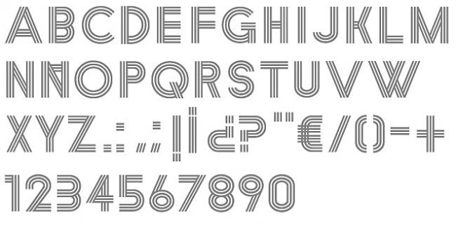 Tipografía Strokes