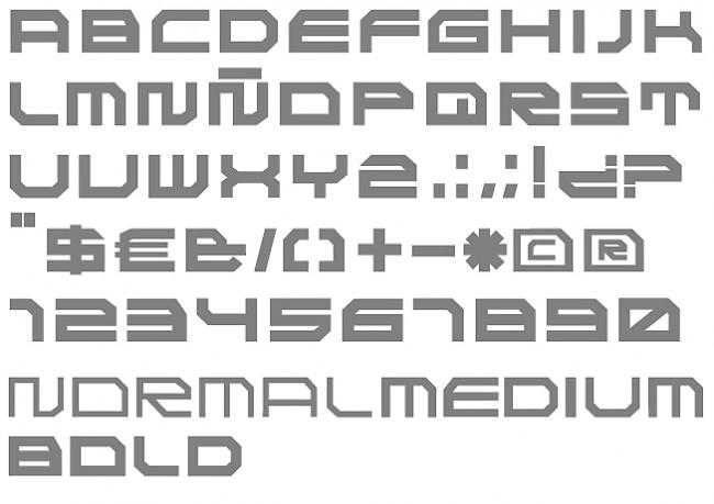 Tipografía TCK 2000